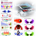 3D Car Styling LED EL Sheet Music Sticker Light Auto Sound Music Rhythm Activated Equalizer EQ Lamp Flash Panel Lights Decorate