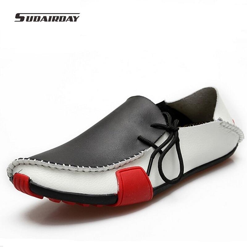 Nuevo de Alta Calidad de Los Hombres Ocasionales Zapatos de Cuero Genuinos de L