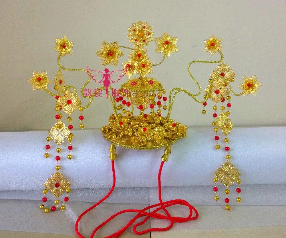 Tv Play Lady of the Dynasty императрица Ян Юань такой же дизайн волос диадемы головной убор ручной работы для свадебная прическа невесты аксессуар - 4