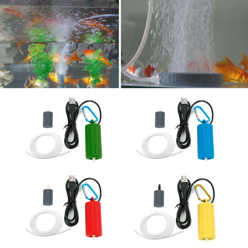 NEW Portable Mini USB Aquarium Fish Tank Oxygen Air Pump Mute Energy Save Compressor