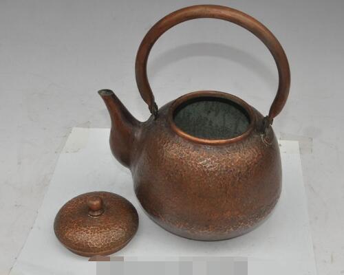 S01985 9 oude chinese pure bronzen koperen Hand gesneden Waterkoker Theepot Thee makers - 3