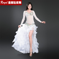 New Gorgeous Belly Dance Suit Professional Bellydance Dress Set Big Expansion Full Skirt Performance Costume BRA
