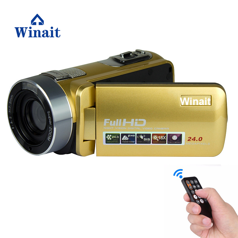 Winait 2017 Night Vision Digital Video Camear Full Hd 1080p With Remoter Control 24mp Digital Camcorder Free Shipping