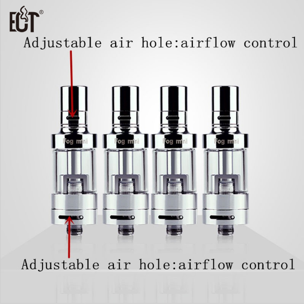 100 Original ECT 2 5ml airflow control Fog mini Electronic cigarette Atomizer Tank