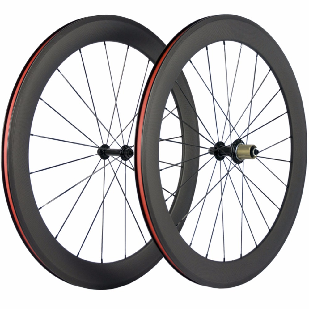 Ship From USA 60mm Carbon Clincher Wheelset Road Bike 3k Matte R13 Hub Carbon Wheels Racing