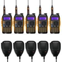 5 шт. x Baofeng GT-3 Mark II 136-174/400-520 МГц двухдиапазонный FM Ham двухстороннее Радио рация с 5 pcsx удаленный динамик