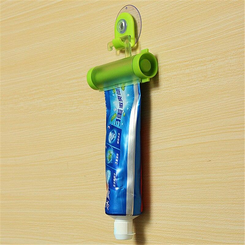 Toothpaste Rolling Squeezer Plastic Dispenser Tube Partner Hanging Holder Sucker