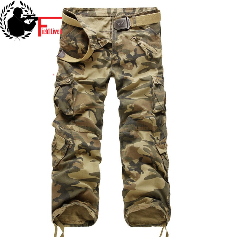 2019 New Tactical Pants Military Style Workpant Clothing Men's Combat Camouflage Cargo Pants Male Maikul789 Casual Trousers