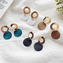 EK501 горячая Распродажа Простые полые металлические круглые серьги с подвесками для женщин геометрические круглые свисающие серьги ювелирные изделия Orecchini