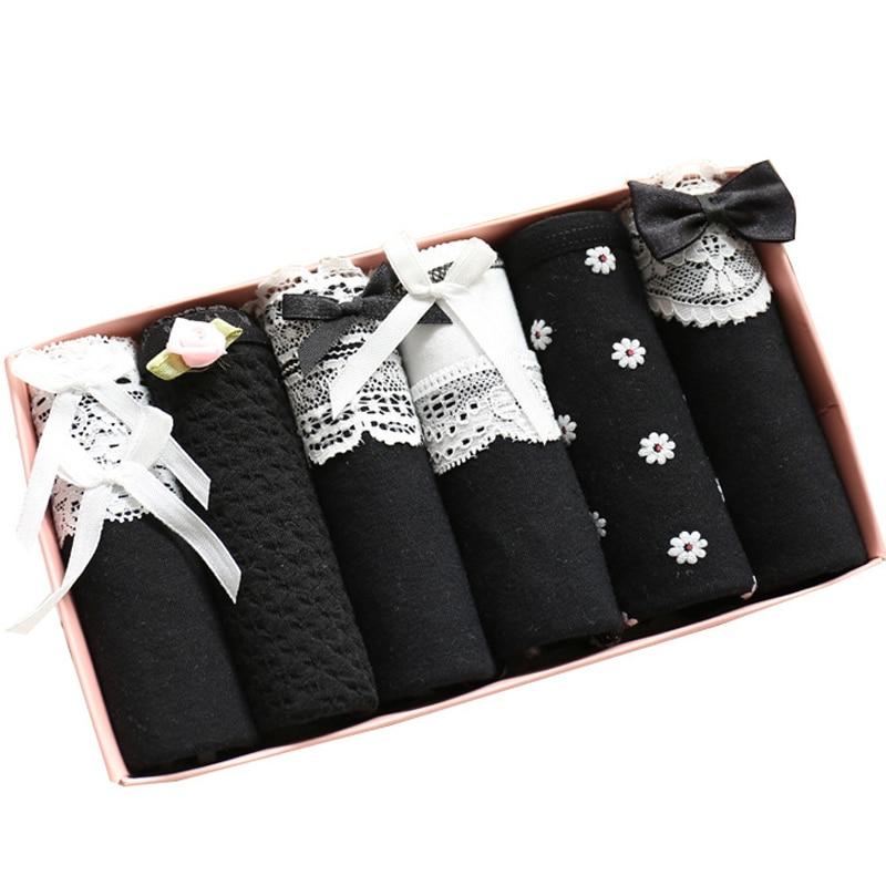 6pcs/lot Underwear Women   Panties   Cotton Sexy Panites Calcinhas Bragas Mujer Culotte Femme Women's Briefs   Panty   Underwear Girls