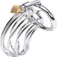 Volwassen Gift Rvs Man Cock Cage Chastity Metalen Seksspeeltjes Voor Mannen 3 soorten verschillende Ring Grootte Keuze