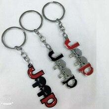 Модный металлический автомобильный брелок для ключей с логотипом, брелок для ключей, автомобильный Стайлинг, автомобильный брелок для ключей для Ferrari Chevrolet Land Rover Jeep
