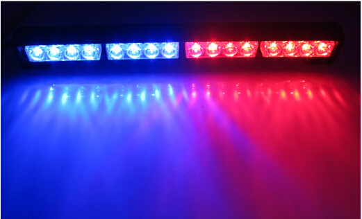 Police Car Flashing Blue Light