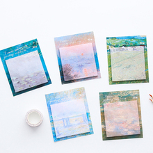 цена 30 sheets Originality Oil painting  sticky notes kawaii Memo Pad stationery School Supplies Planner Stickers Paper Message онлайн в 2017 году