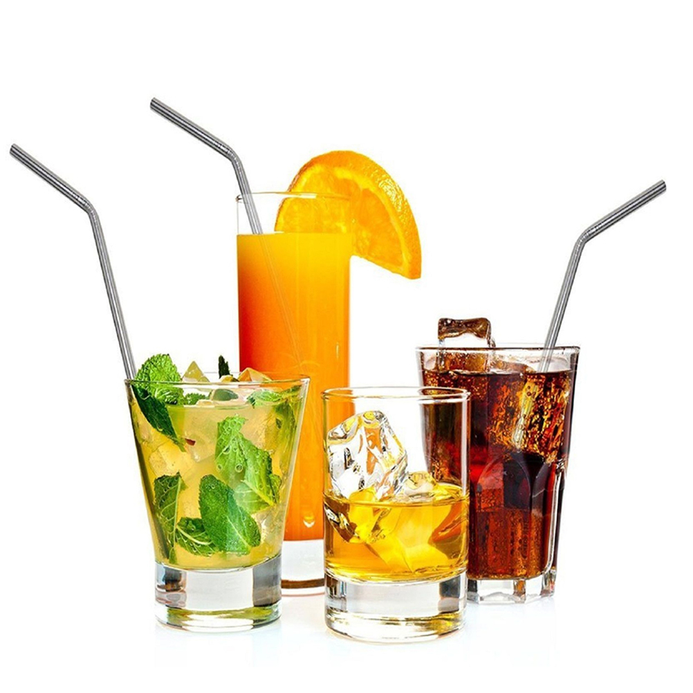8pcs Stainless Steel Reusable Drinking Straw With 2 Cleaning Brush For <font><b>30</b></font> <font><b>Oz</b></font> <font><b>Yeti</b></font> Rtic <font><b>Rambler</b></font> <font><b>Tumbler</b></font> <font><b>Cups</b></font> Home Party Bar Favor