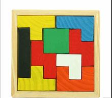 Купить с кэшбэком Free delivery, children's wooden jigsaw puzzle toys, tetris makeup, education and learning of baby toys