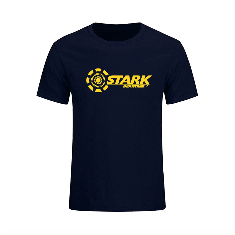 2017 STARK INDUSTRIES TONY STARK IRON MAN T-shirts Summer Brand 100% Cotton T Shirts Fitness Casual Short Sleeve Camisas Tops