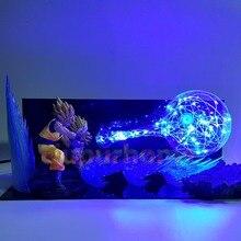 Dragon Ball Z Desk Lamp Son Goku Father Son Gohan Kamehameha Led Night Lights Anime Dragon Ball Super Saiyan Lighting
