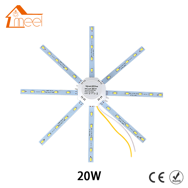 High Bright Ceiling Lamp 20W PCB Board Modified Light Source Led Bulb Plate Octopus Tube Energy Saving Lamp Plafon