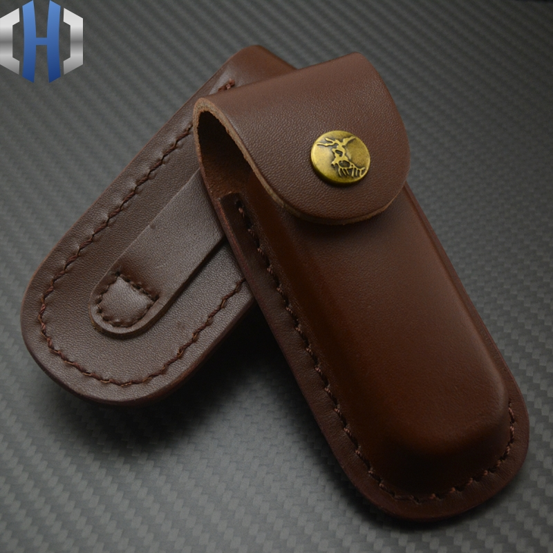 Scabbard/knife Cover Leather Folding Knife First Layer Cowhide Knife Cover Leather Scabbard Folding Knife Sheath
