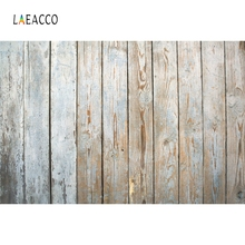 Laeacco Grunge Gray Wooden Board Baby Professional Photography Backgrounds Customized Photographic Backdrops For Photo Studio