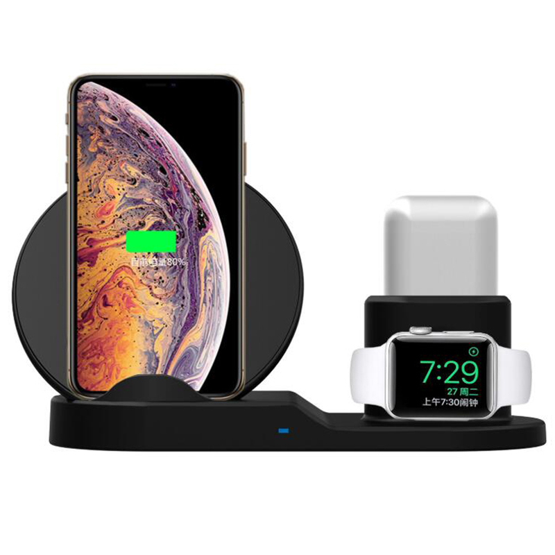 3 In 1 For Apple AirPods Apple Watch 2 3 QI Wireless