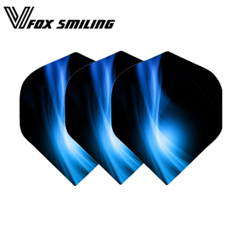 30PCS Nice Darts Flights Wing For Professional Darts Wing Tail Cool Pattern Dart Accessories Blue