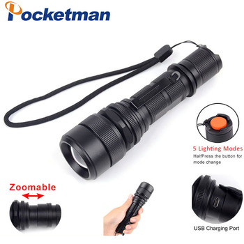 High-Powered LED Flashlight XML L2, Zoomable ,Water Resistant 5 Modes  Lumen Camping, Outdoor, Emergency Flashlights zk30 sitemap 19 xml