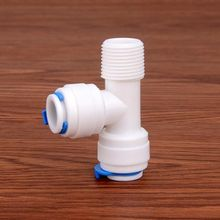 3/8Male - 3/8 OD Tube Tee Type PE Pipe Fitting Hose Quick Connector Aquarium RO Water Filter Reverse Osmosis System