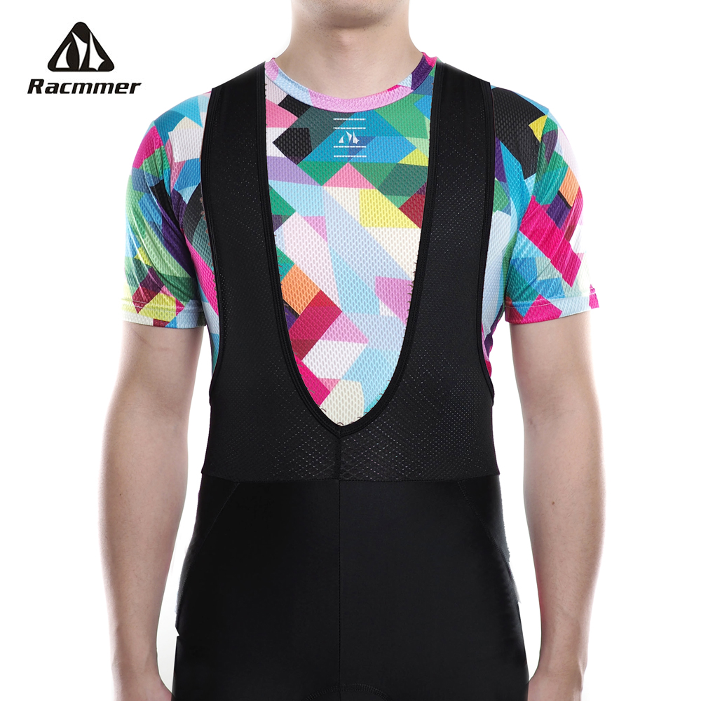 Racmmer 2018 Bike Cool Mesh Fitness Cycle Cycling Base Layers Bicycle Short Sleeve Shirt Sport Breathbale Underwear Ciclismo