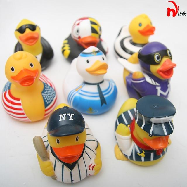 8Pcs/lot Baby Floating Rubber Ducks Kids Bath Toys for Children ...