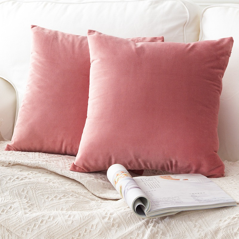 40x40cm 30x50cm Soft Velvet Green Blue Yellow Pillow Case Cushion Cover Solid Color Pillow Cover No Balling-up Without Stuffing Table & Sofa Linens
