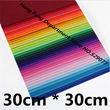 40pcs 30*30 1mm Sewing Crafts Gift DIY Needlework Needle Felt Fabric Material Colorful Polyester Nonwoven Fabric For Exhibition(China)