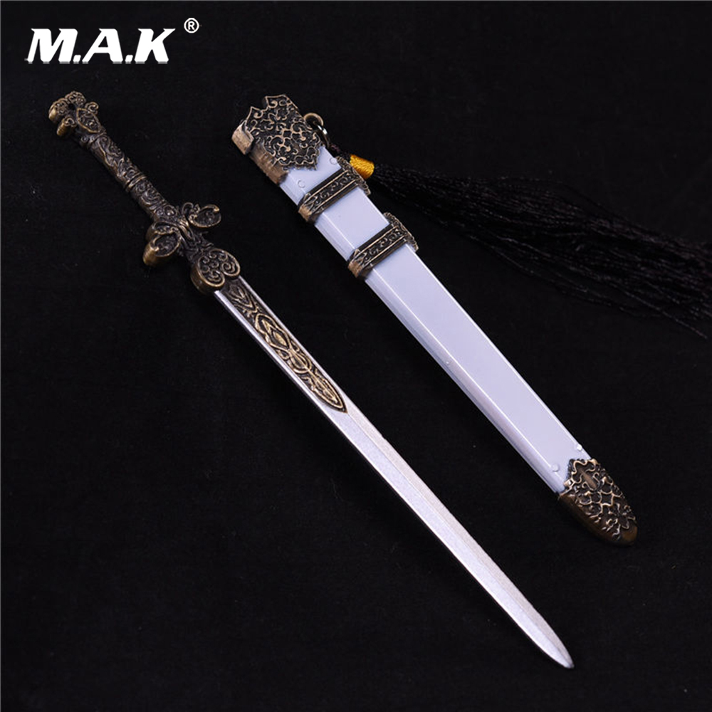 1:6 Scale Soldiers Alloy Cold Weapon Accessories 22cm White Jade Sword Model