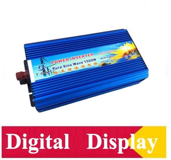 цена на digital Display 1500w Invertor pure sine wave max 3000w power DC12V/24V/12V/110V to AC100V-240V 50Hz/60Hz