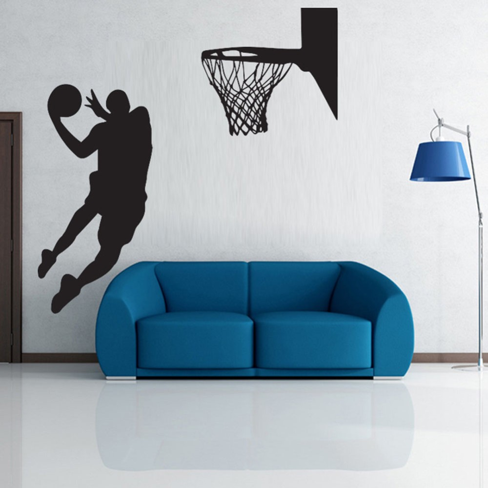 Acting cool wall decal nba slam dunk basketball wall mural acting cool wall decal nba slam dunk basketball wall mural removable art vinyl wall decal room decorative sport wallpaper w 1018 in wall stickers from home amipublicfo Image collections