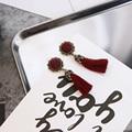 2017 de Alta Qualidade Coreia Do Casamento de Luxo Colorido Pingente de Borla Retro Brincos Do Parafuso Prisioneiro Das Mulheres Brincos Longos Para As Mulheres, E0166