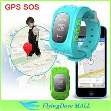 Mini GPS Watch Kids GPS Tracker SOS Emergency Anti Lost Smart Mobile Phone App Bracelet Wristband MTK6261 GSM GPS tracker watch