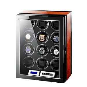 Image 5 - M & Q uhrenbeweger اليابانية mabuchi محرك خشبي تحكم آمن led التلقائي ملفاف ساعة ملفاف صندوق