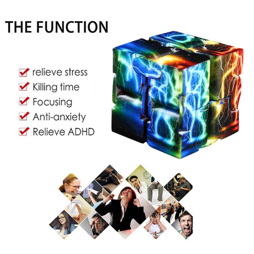 Squeeze Luxury Edc Kids Toys Infinity Cube Mini For Stress Relief Fidget Anti Anxiety Stress Funny Toys May8 Gags & Practical Jokes