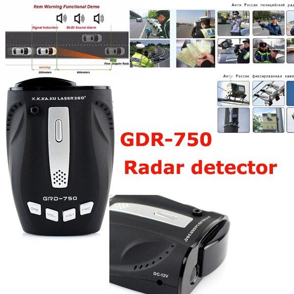 CHAUDE GDR-750 Toute la bande de Voiture détecteur Anti-Police Détecteur De Radar LED Affichage Russe Version Voix Alerte Laser De Voiture Vitesse détecteurs