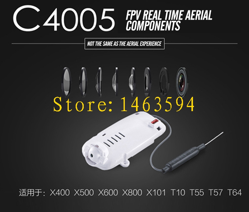 Free Shipping MJX C4005 0.3MP FPV WIFI HD Camera for MJX X400 X500 X600 X800 X101 T10 T55 T57 T64 helicopter image