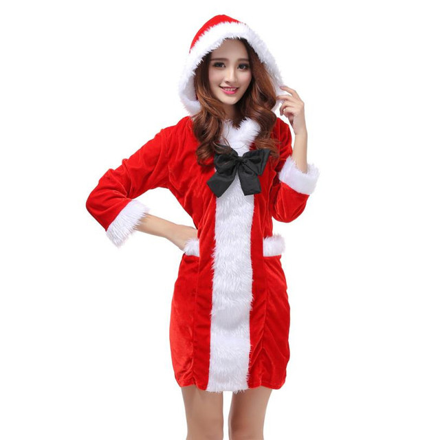 2017 Best Sale Women Sexy Santa Christmas Costume Fancy Dress Xmas Office  Party Outfit wonder woman red dress vestido de festa - 2017 Best Sale Women Sexy Santa Christmas Costume Fancy Dress Xmas