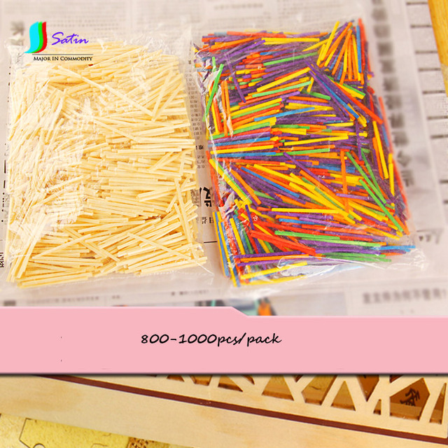 colourful small ice cream match wood sticks child count tools diy