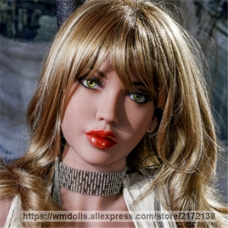 WMDOLL Silicone Sex Dolls Head with Oral Sex Japanese love Doll Heads Adult Sexy Toy for men