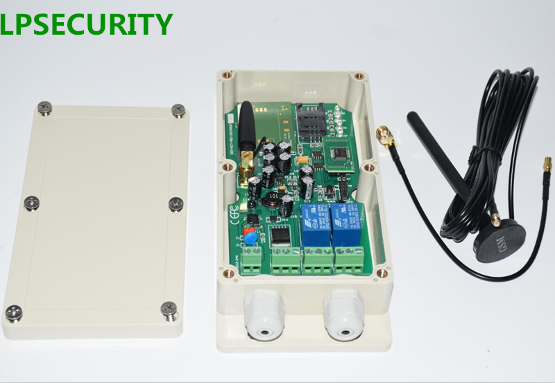 LPCURITY Outdoor Two Relays GSM Key Module Remote Control Switch For Automatic Door Opener (Model: GSM-KEY-GPRS)