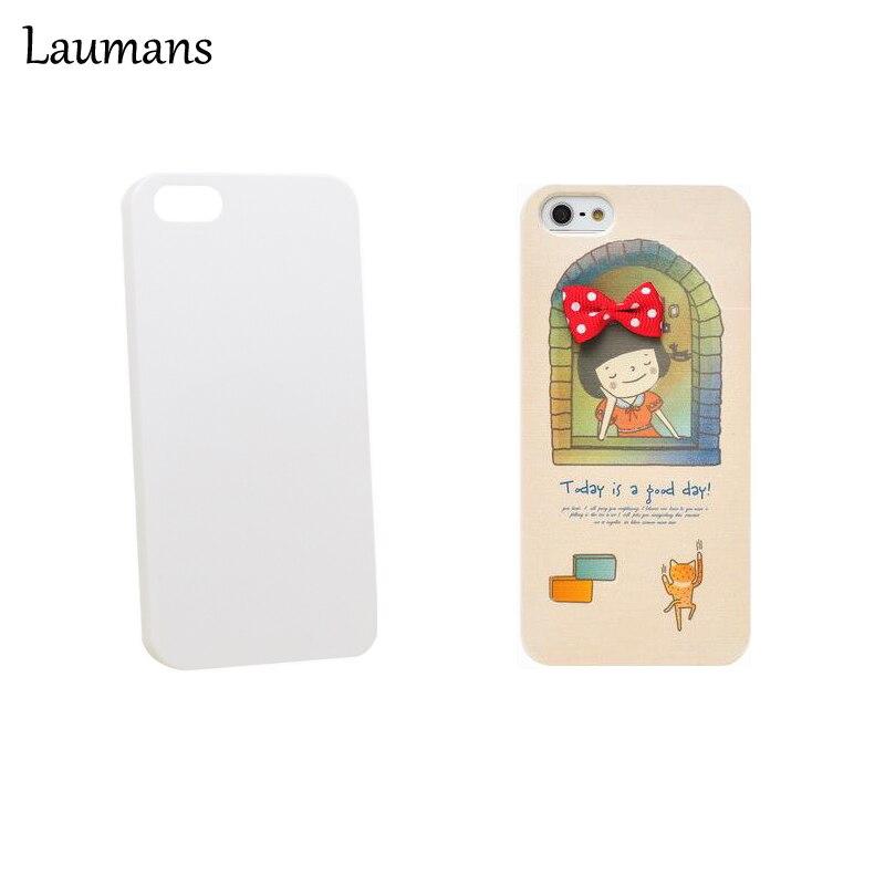 imágenes para Laumans 50 unids DIY UV impresión Mate de Pintura Para el iphone 6 6 s 6 más Casos de Diseño Personalizado De Plástico de la PC En Blanco Blanco caso