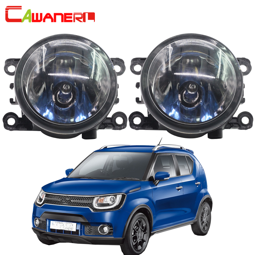 Cawanerl 2 X 100W Car Front Halogen Fog Light DRL Daytime Running Lamp 12V For Suzuki Ignis II Closed Off-Road Vehicle 2003-2008 2pcs for car styling fog lights nissan x trail t31 closed off road vehicle 2007 2014 halogen lamps 26150 8990b
