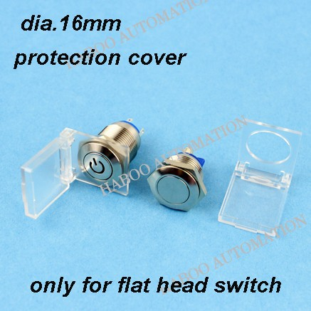 20pcs/lot for HABOO 16mm metal switch cover protetion function light switch cover push button switch protective cover ...