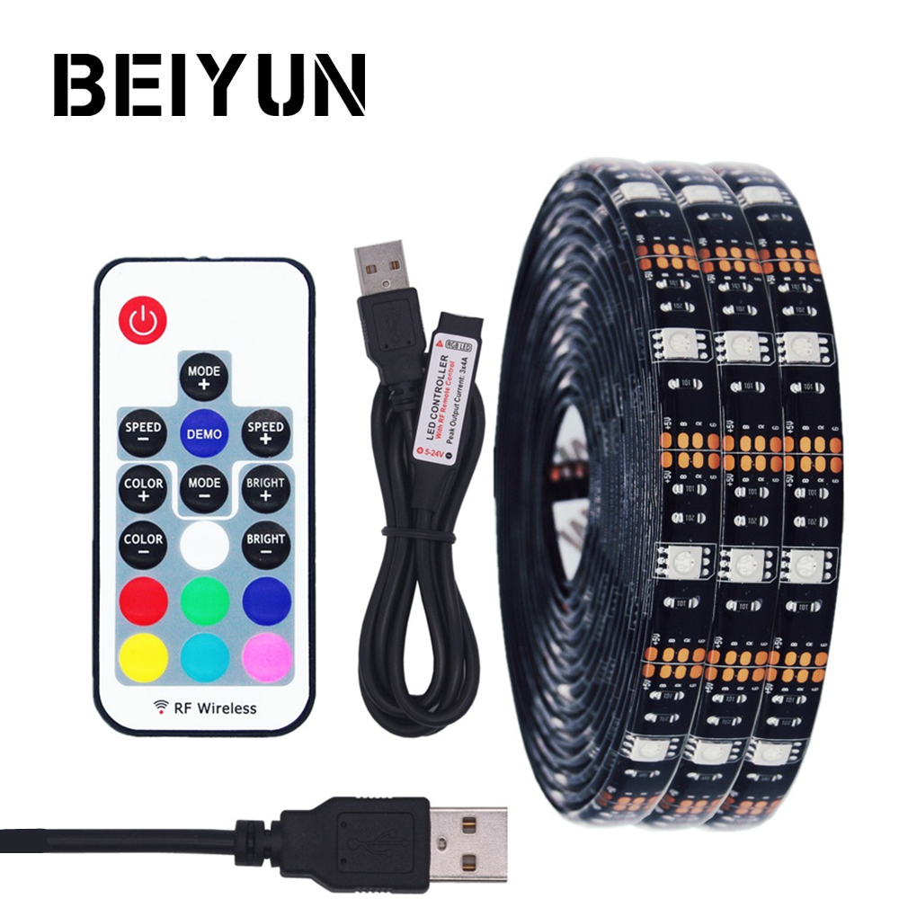 DIY 5050 RGB LED Strip Waterproof DC 5V USB LED Light Strips Flexible Tape 50CM 1M 2M 3M 4M 5M add Remote For TV Background 1m 2m 5m 30cm 4 pin rgb led connector extension cable cord wire with 4pin connector for rgb led strip light free shipping